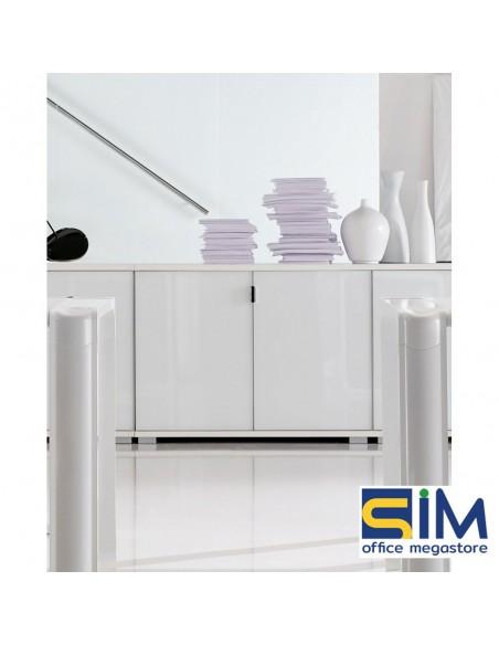 Armoire avec 2 portes en verre blanc