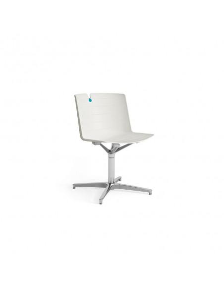 Chaise de conférence Mork avec pied chromé base plate